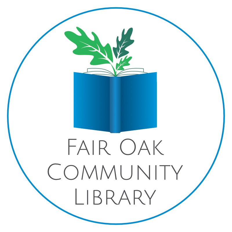 fair oak community library logo circle